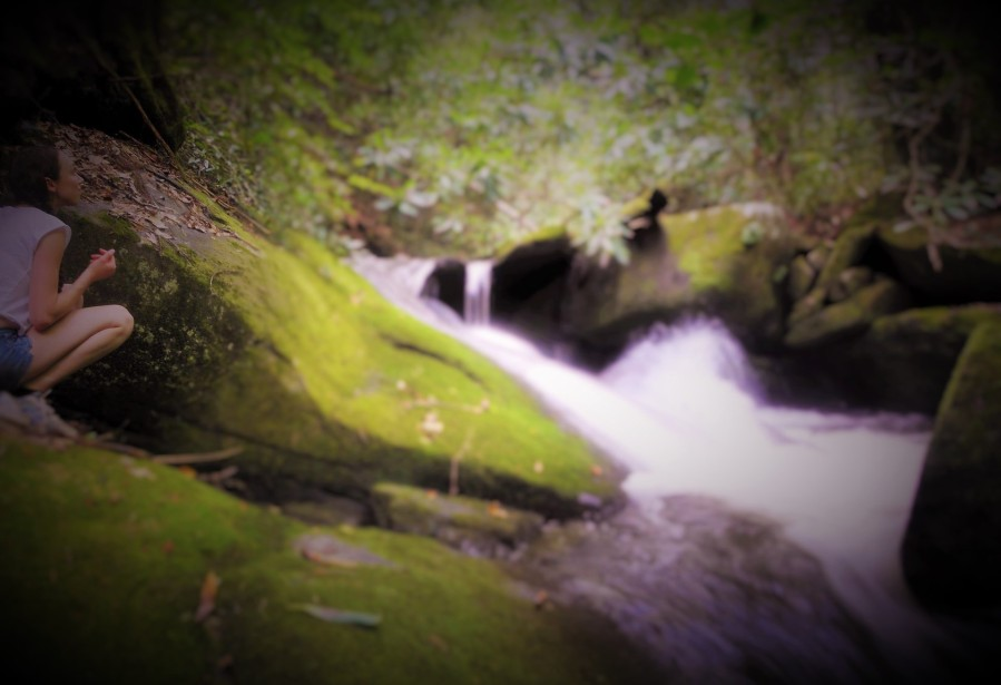 crouching by the stream of consciousness