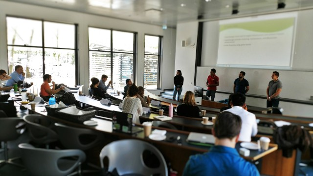 Karim Jabbar & BLOC lead Blockchain workshop at Copenhagen Business School. Students present sustainability ideas with feedback from John Robinson.